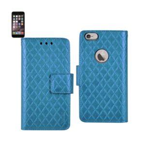 IPHONE 6 PLUS RHOMBUS WALLET CASE IN BLUE