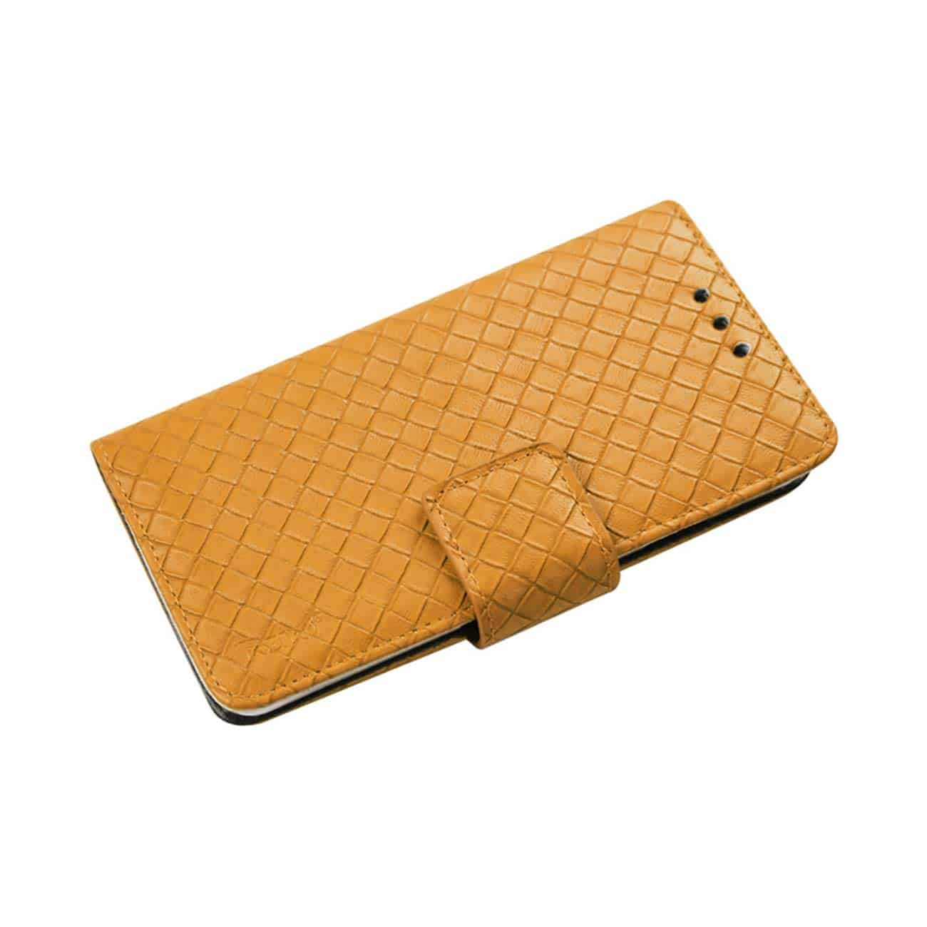 IPHONE 6 BRAIDED WALLET CASE IN YELLOW