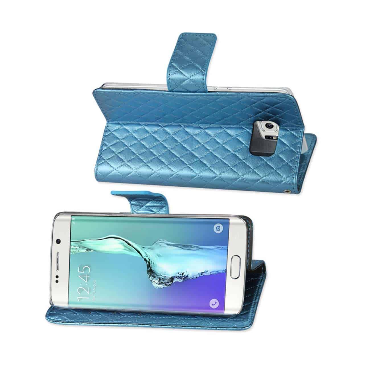 SAMSUNG GALAXY S6 EDGE PLUS RHOMBUS WALLET CASE IN BLUE
