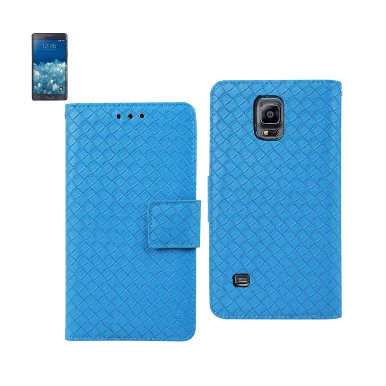 SAMSUNG GALAXY NOTE EDGE BRAIDED WALLET CASE IN BLUE