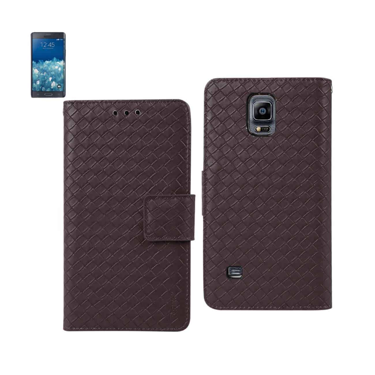 SAMSUNG GALAXY NOTE EDGE BRAIDED WALLET CASE IN BROWN