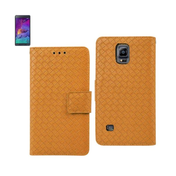 SAMSUNG GALAXY NOTE 4 BRAIDED WALLET CASE IN YELLOW