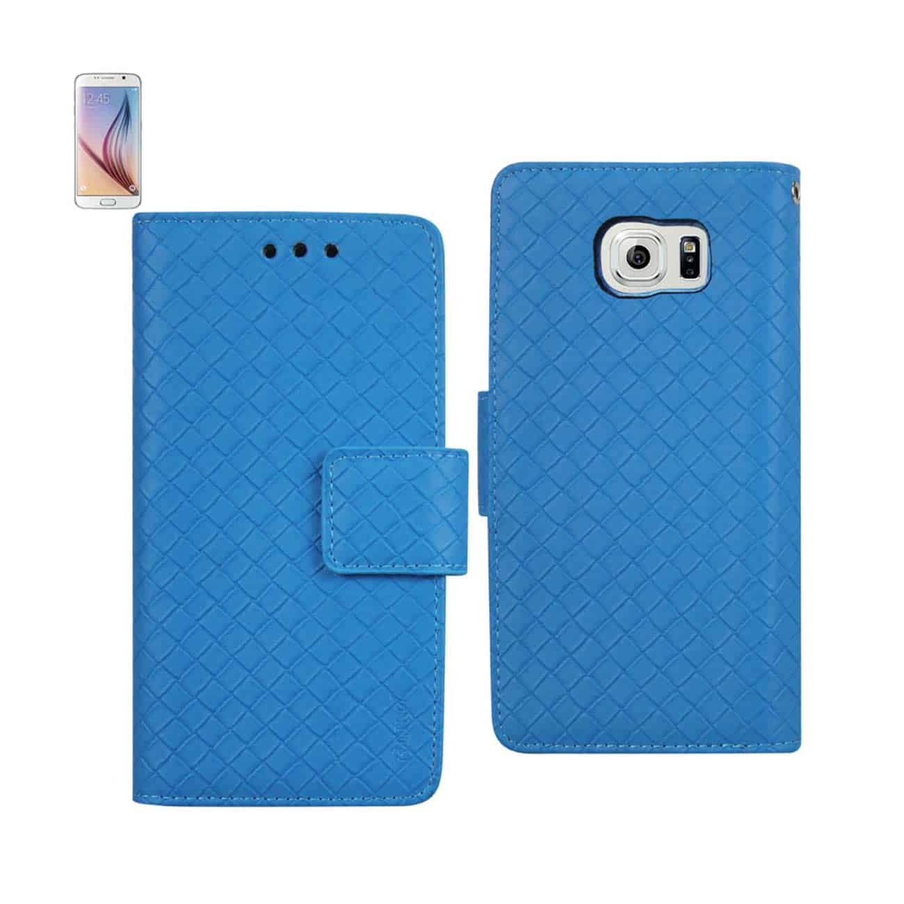 SAMSUNG GALAXY S6 BRAIDED WALLET CASE IN BLUE