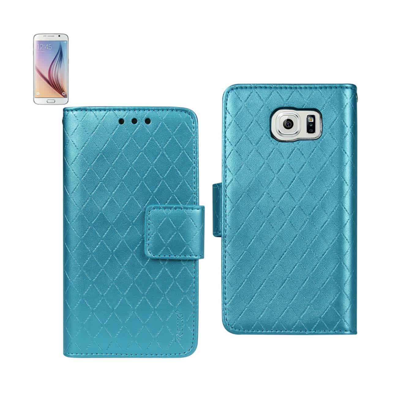 SAMSUNG GALAXY S6 RHOMBUS WALLET CASE IN BLUE