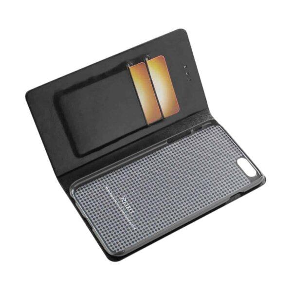 IPHONE 6 PLUS FLIP FOLIO CASE WITH CARD HOLDER IN BLACK
