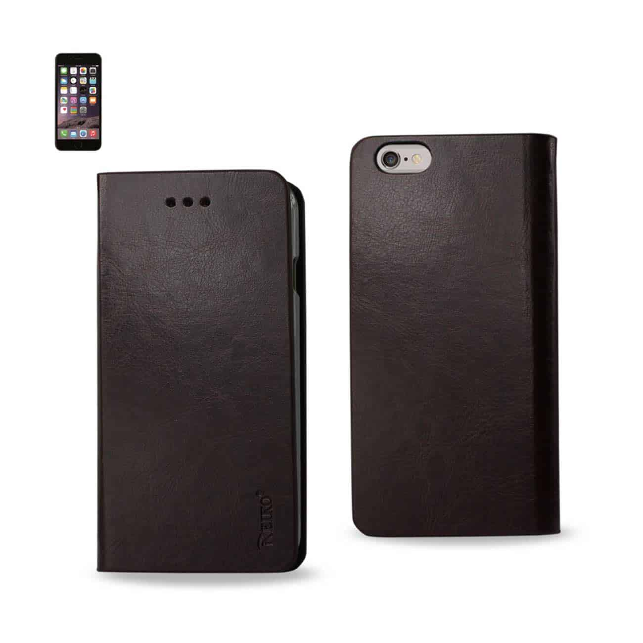 IPHONE 6 PLUS FLIP FOLIO CASE WITH CARD HOLDER IN BROWN