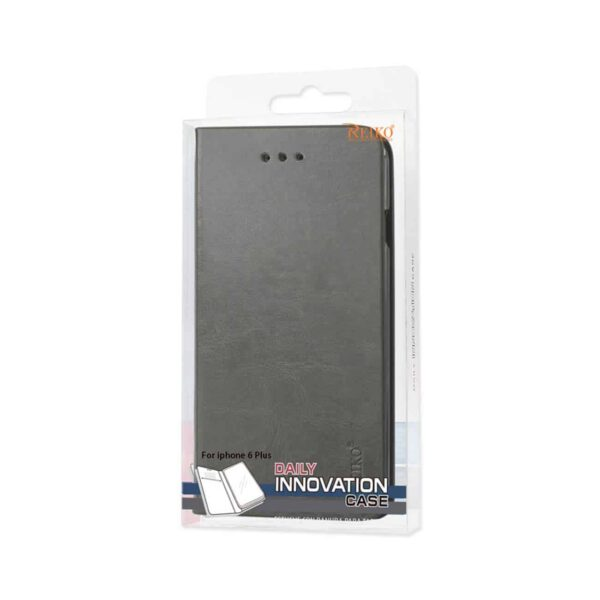 IPHONE 6 PLUS FLIP FOLIO CASE WITH CARD HOLDER IN GRAY