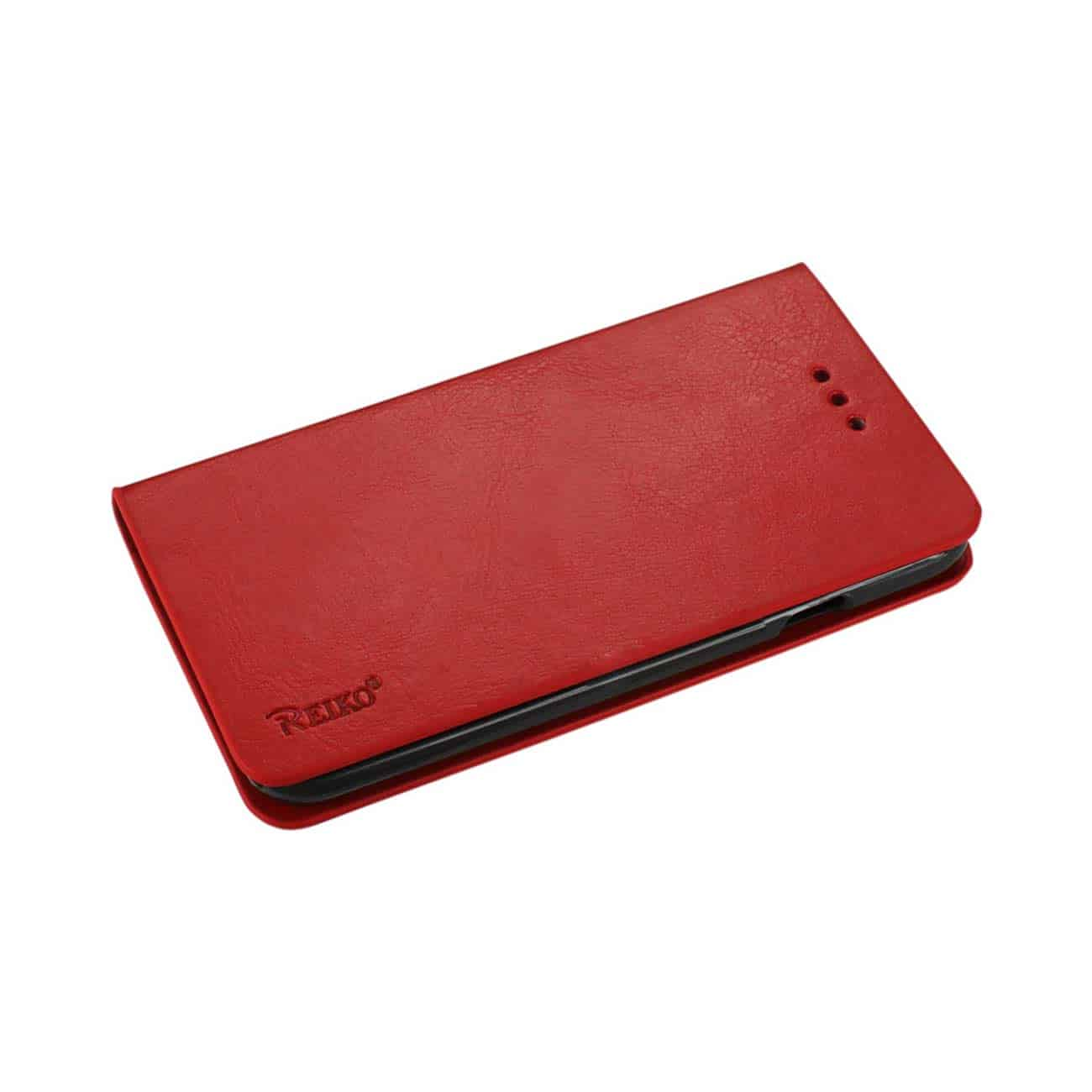IPHONE 6 PLUS FLIP FOLIO CASE WITH CARD HOLDER IN RED