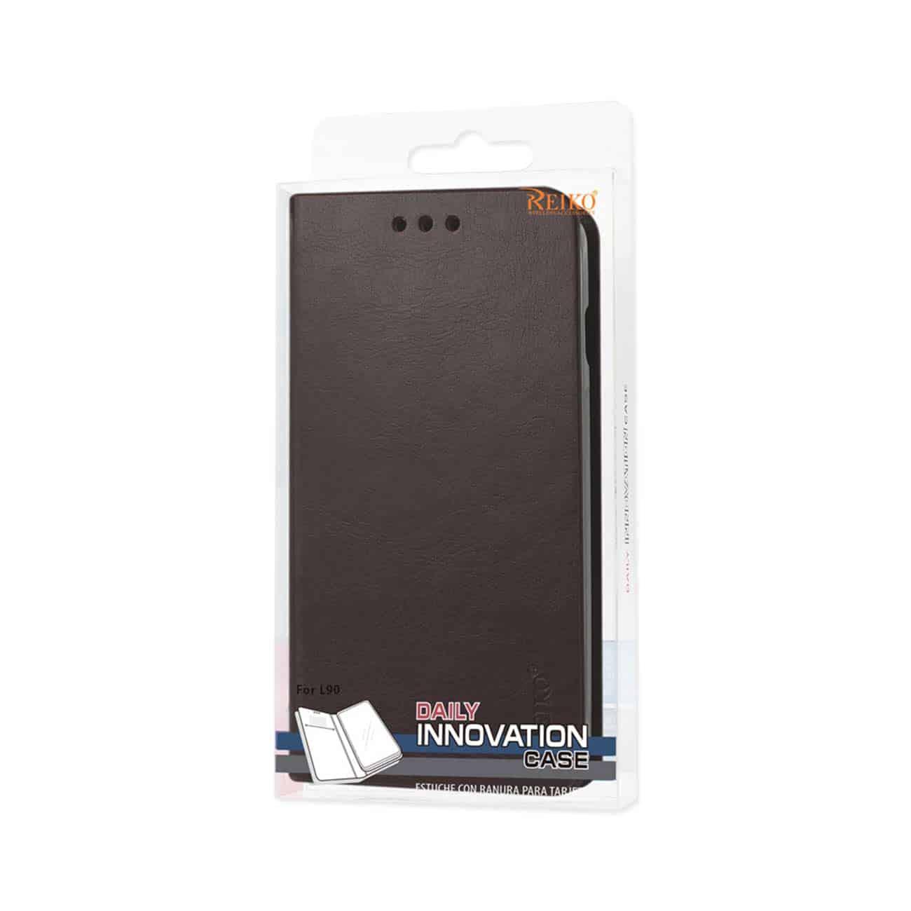 LG L90 FLIP FOLIO CASE WITH CARD HOLDER IN BROWN
