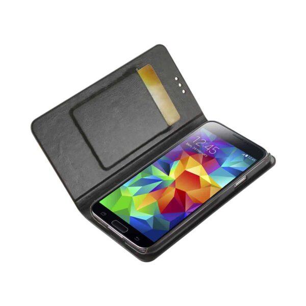 SAMSUNG GALAXY S5 FLIP FOLIO CASE WITH CARD HOLDER IN GRAY