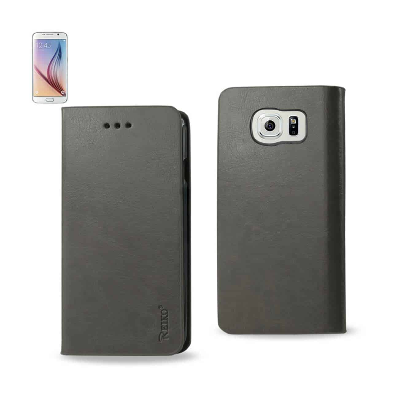 SAMSUNG GALAXY S6 FLIP FOLIO CASE WITH CARD HOLDER IN GRAY