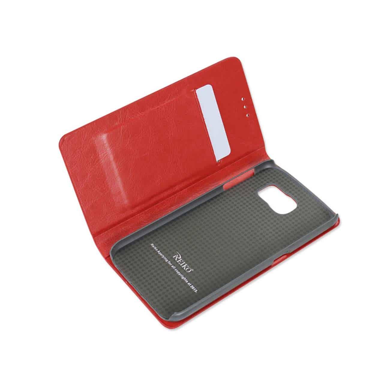 SAMSUNG GALAXY S6 FLIP FOLIO CASE WITH CARD HOLDER IN RED