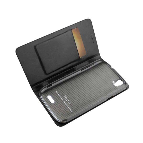 ZTE GRAND X FLIP FOLIO CASE WITH CARD HOLDER IN BLACK