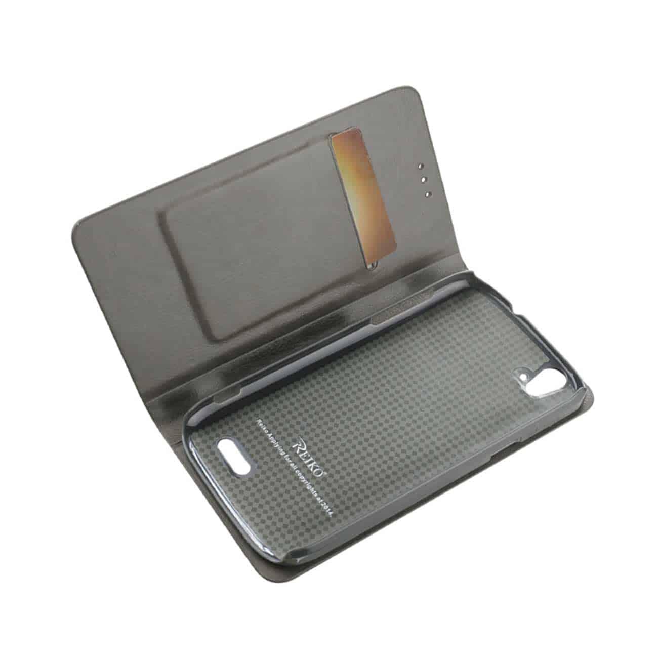 ZTE GRAND X FLIP FOLIO CASE WITH CARD HOLDER IN GRAY