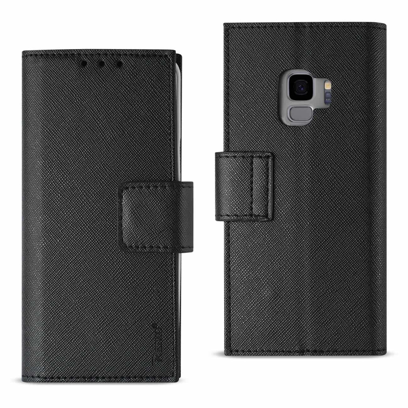 Samsung Galaxy S9 3-In-1 Wallet Case In Black