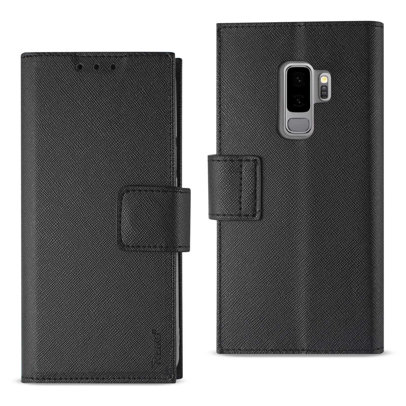 Samsung Galaxy S9 Plus 3-In-1 Wallet Case In Black