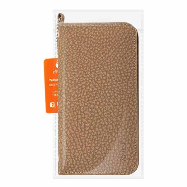 UNIVERSAL WALLET PHONE CASE WITH SIDE POCKETS AND MAGNETIC FLAP FOR IPHONE 6 /6S (5.59X2.79X0.42 INCHES) IN BROWN