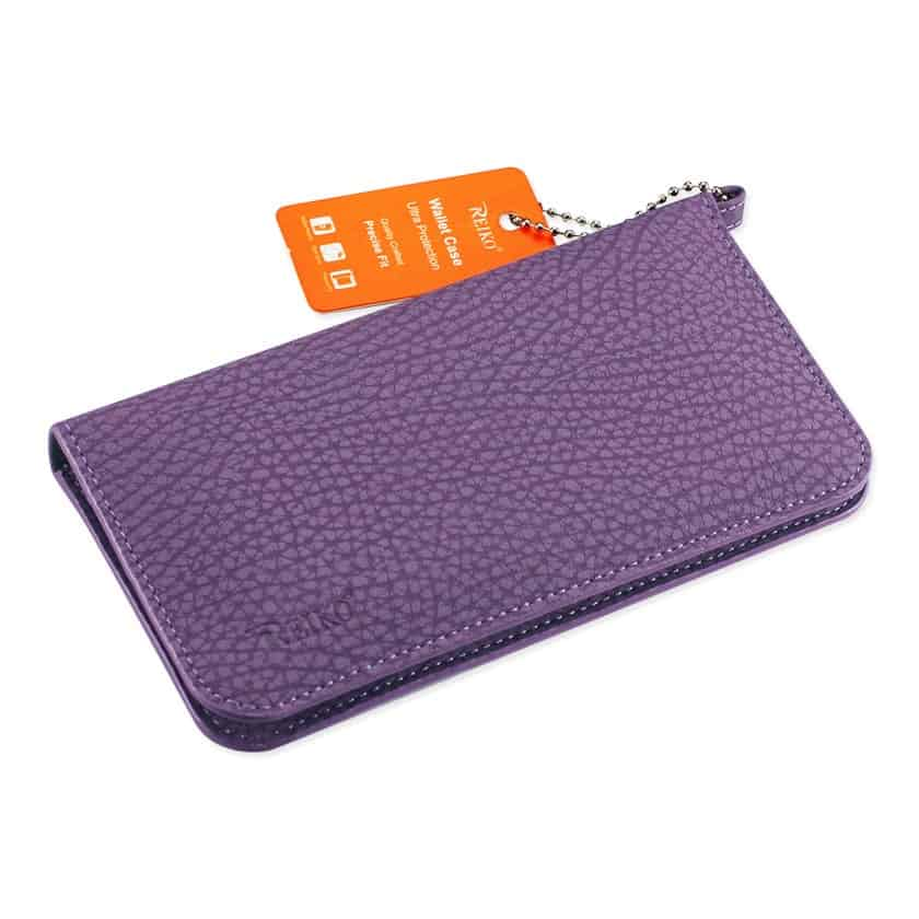 UNIVERSAL WALLET PHONE CASE WITH SIDE POCKETS AND MAGNETIC FLAP FOR IPHONE 7 PLUS (6.37X3.21X0.43 INCHES) IN NAVY