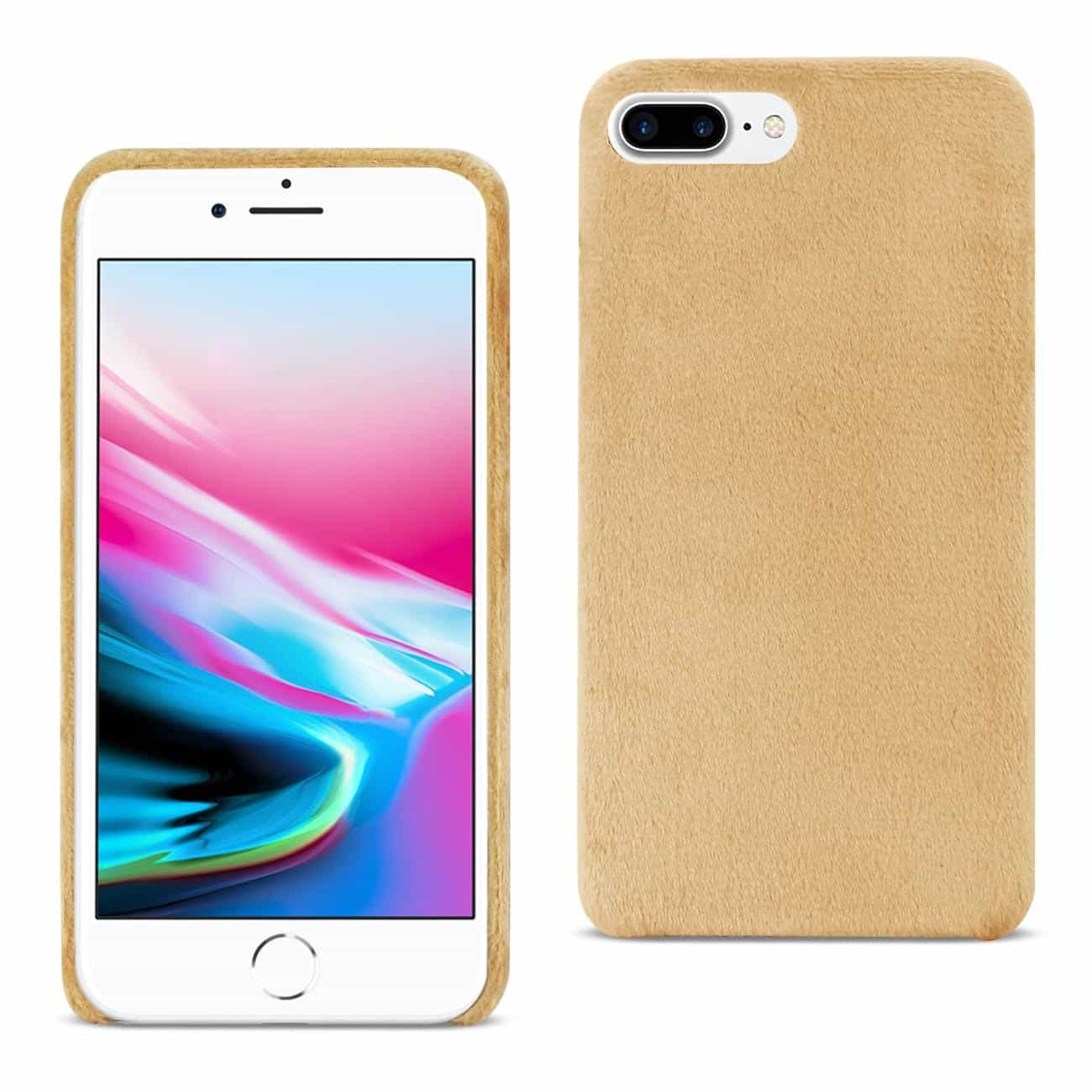 iPhone 8 Plus/ 7 Plus Fuzzy Fur Soft TPU Case In Camel