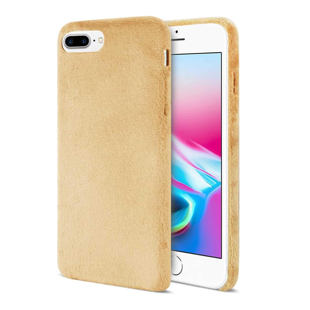 iPhone 8 Plus/ 7 Plus Fuzzy Fur Soft TPU Case In Camel