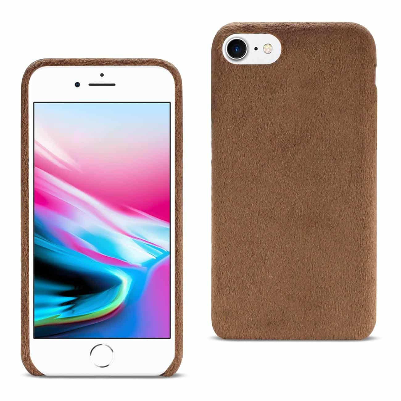 iPhone 8/ 7 Fuzzy Fur Soft TPU Case In Brown