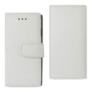 IPHONE 7 GENUINE LEATHER WALLET CASE WITH RFID CARD PROTECTION IN IVORY