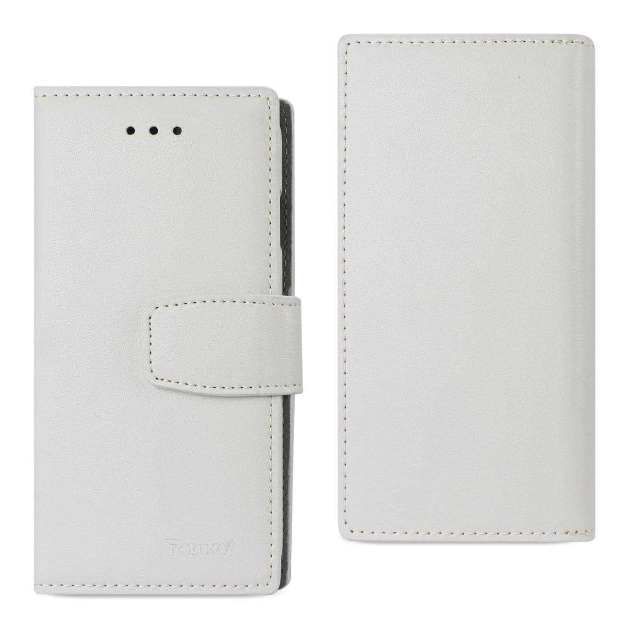 iPhone X Genuine Leather Wallet Case With Rfid Card Protection In Ivory