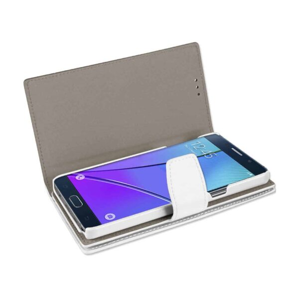 SAMSUNG GALAXY NOTE 5 GENUINE LEATHER WALLET CASES WITH RFID CARD PROTECTION IN IVORY