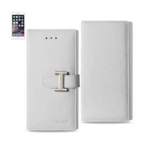 IPHONE 6 PLUS GENUINE LEATHER RFID WALLET CASE IN IVORY