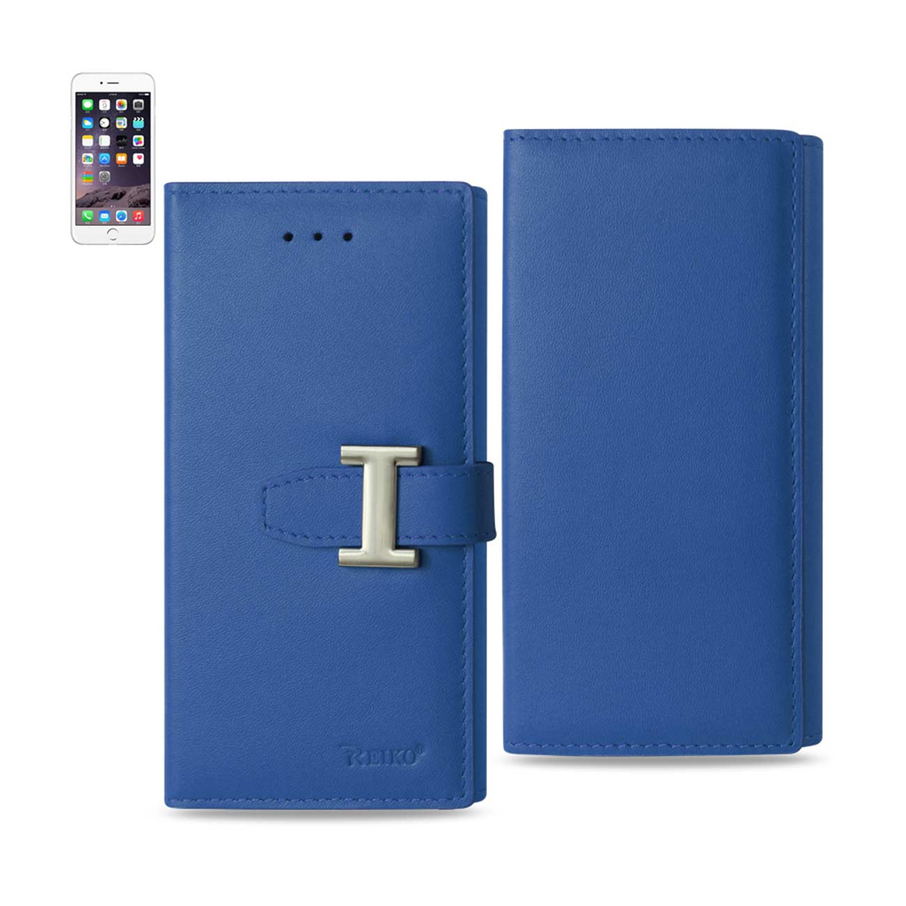 IPHONE 6 PLUS GENUINE LEATHER RFID WALLET CASE IN ULTRAMARINE