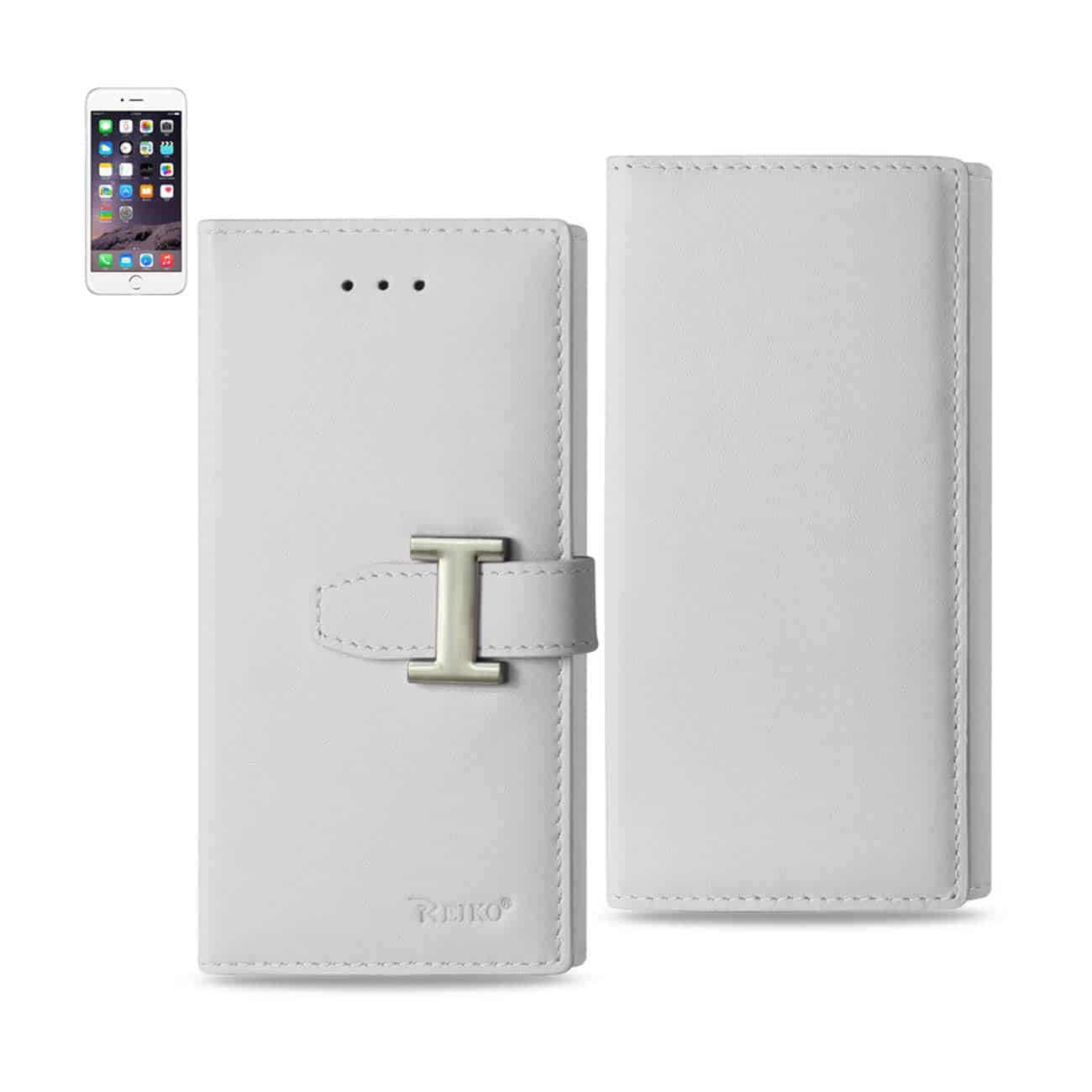 IPHONE 6 GENUINE LEATHER RFID WALLET CASE IN IVORY