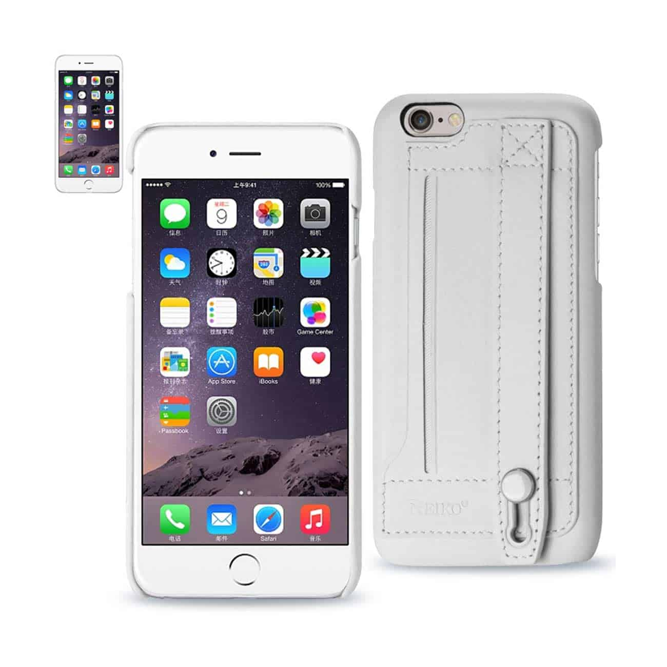 IPHONE 6 GENUINE LEATHER HAND STRAP CASE IN IVORY
