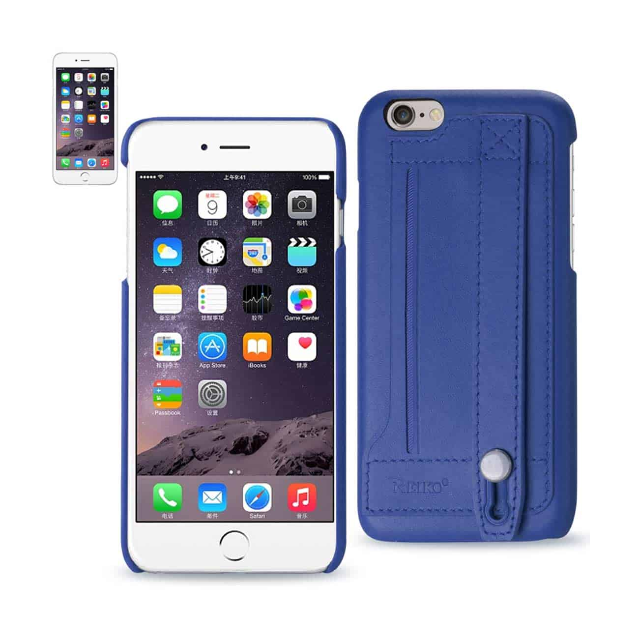 IPHONE 6 GENUINE LEATHER HAND STRAP CASE IN ULTRAMARINE