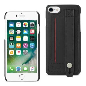 IPHONE 7 GENUINE LEATHER HAND STRAP CASE IN BLACK