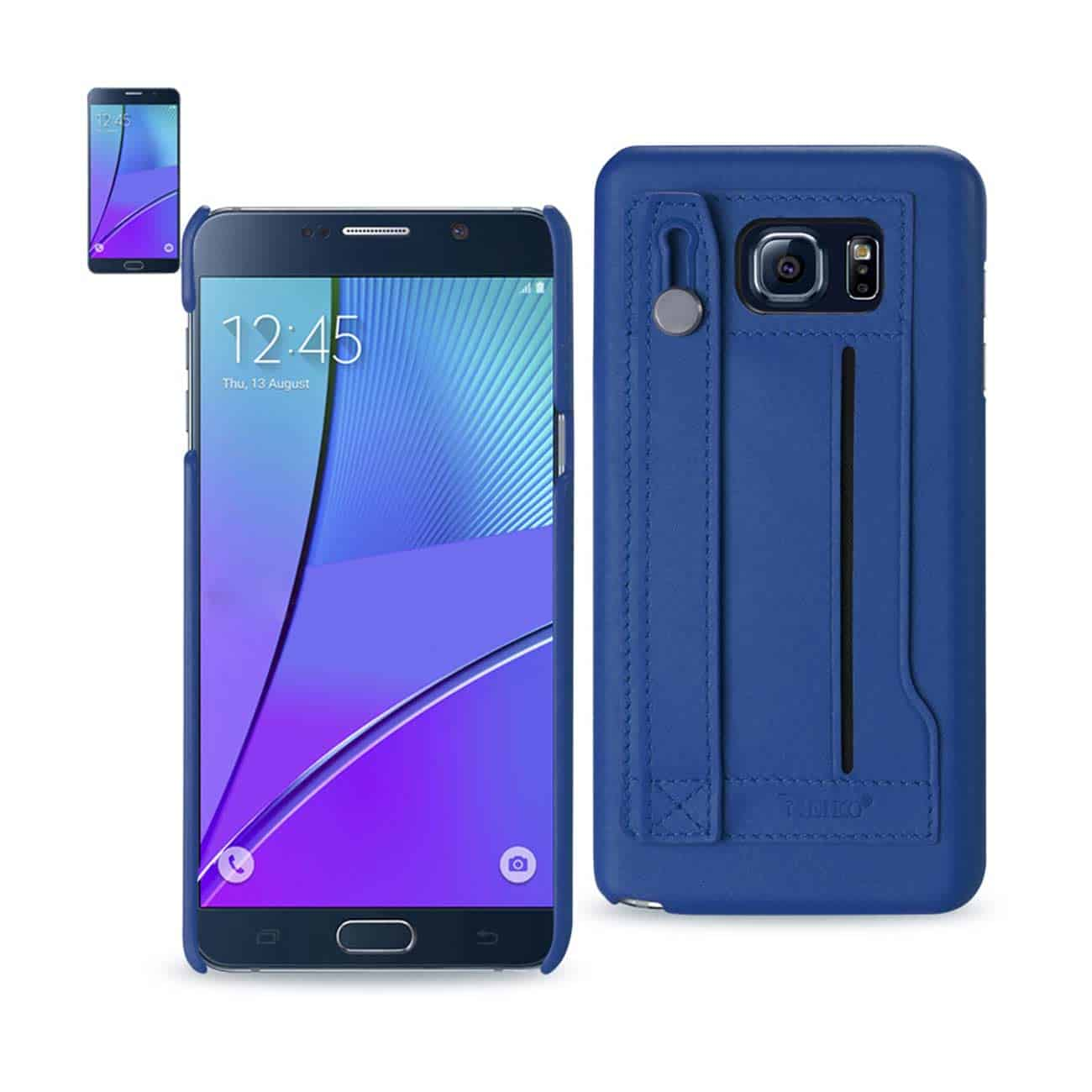 SAMSUNG GALAXY NOTE 5 GENUINE LEATHER HAND STRAP CASE IN ULTRAMARINE
