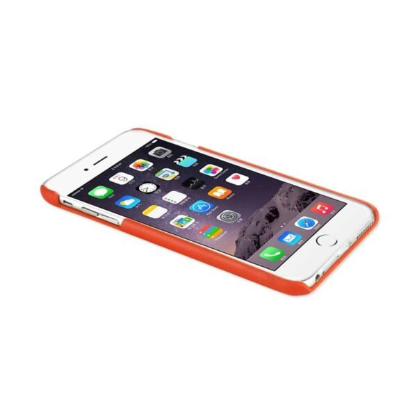IPHONE 6 RFID GENUINE LEATHER CASE PROTECTION AND KEY HOLDER IN TANGERINE