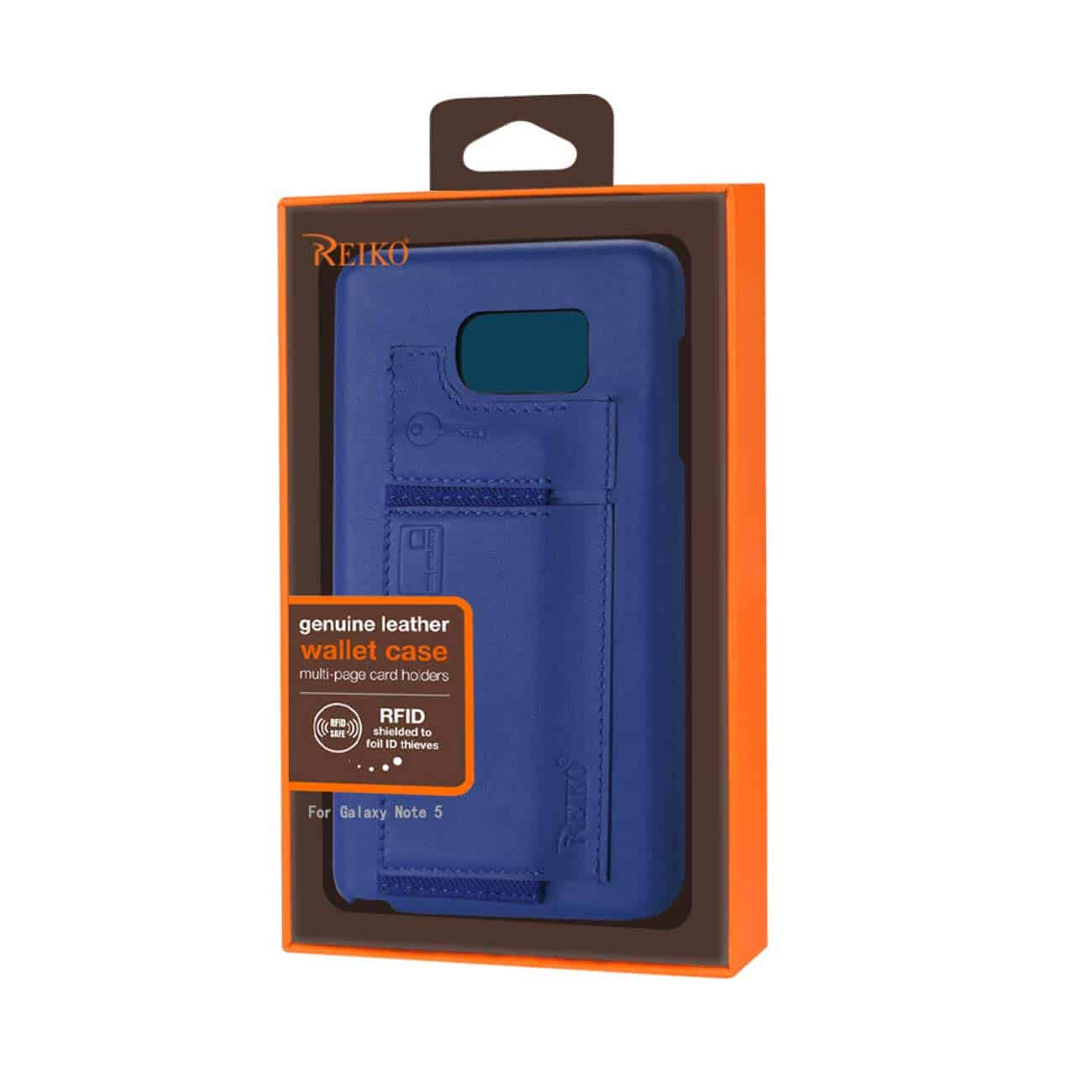 SAMSUNG GALAXY NOTE 5 RFID GENUINE LEATHER CASE PROTECTION AND KEY HOLDER IN ULTRAMARINE