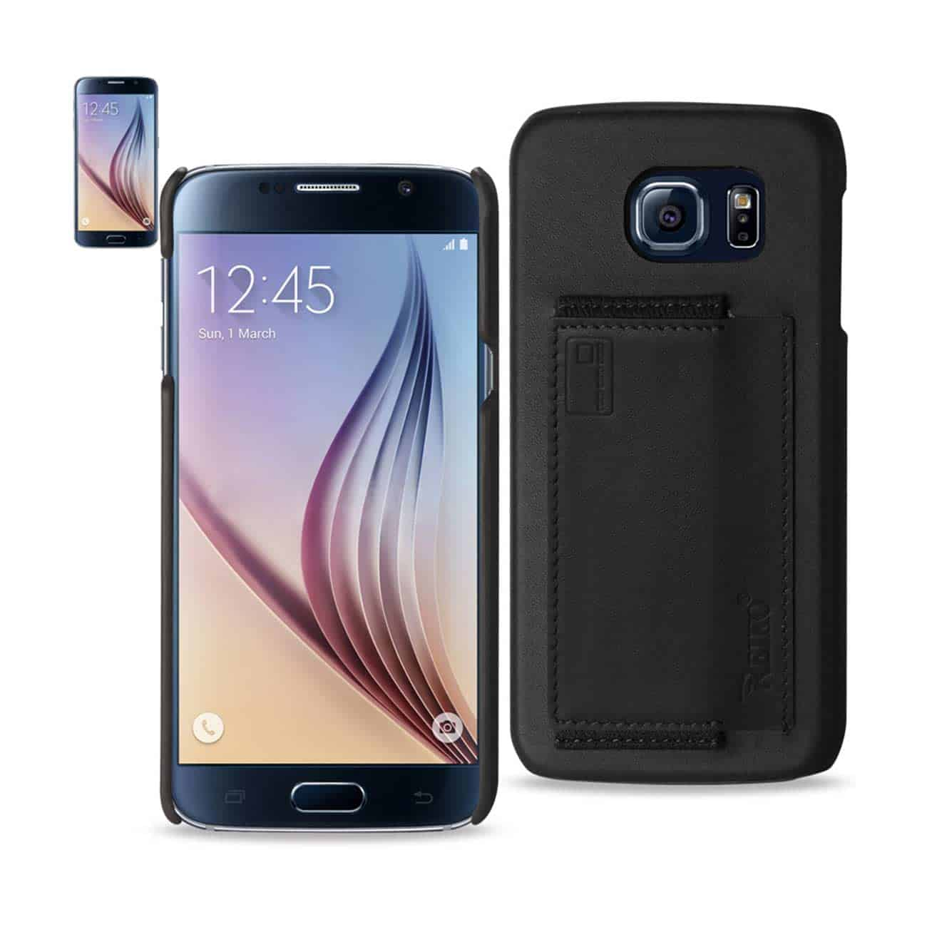 SAMSUNG GALAXY S6 RFID GENUINE LEATHER CASE PROTECTION AND KEY HOLDER IN BLACK