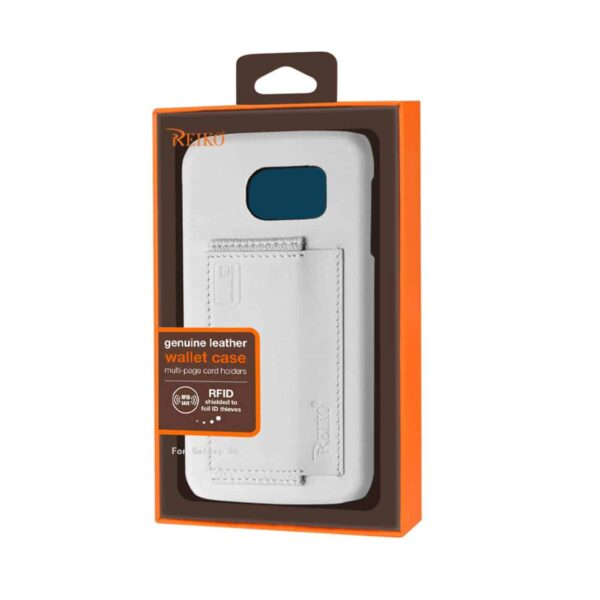 SAMSUNG GALAXY S6 RFID GENUINE LEATHER CASE PROTECTION AND KEY HOLDER IN IVORY