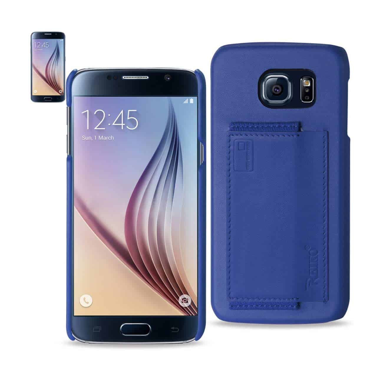 SAMSUNG GALAXY S6 RFID GENUINE LEATHER CASE PROTECTION AND KEY HOLDER IN ULTRAMARINE
