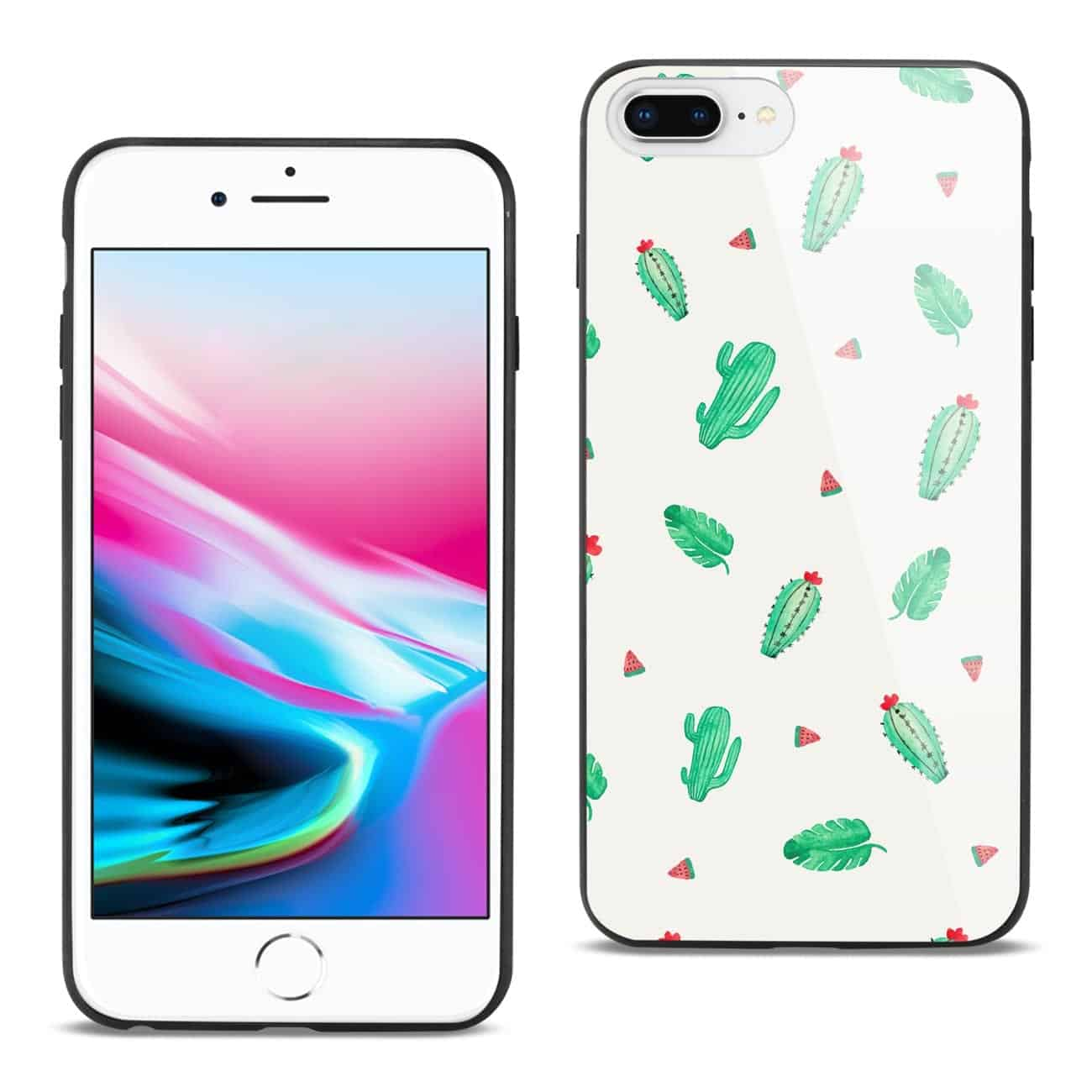 iPhone 8 Plus Hard Glass Design TPU Case
