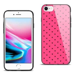 iPhone 8 Hard Glass Design TPU Case