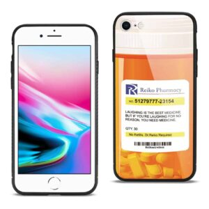 iPhone 8 Hard Glass Design TPU Case With Pill Container