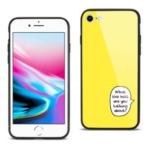 iPhone 8 Hard Glass Design TPU Case In Yellow