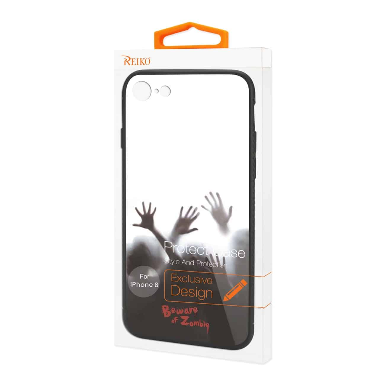 iPhone 8 Hard Glass Design TPU Case With Zombies