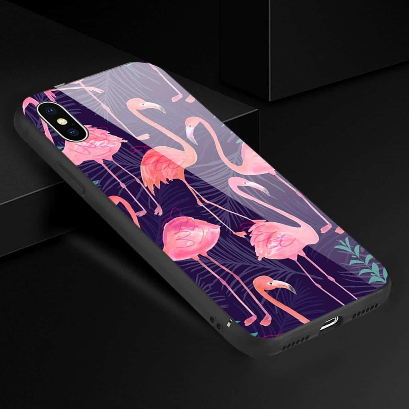 iPhone X/XS Hard Glass Design TPU Case