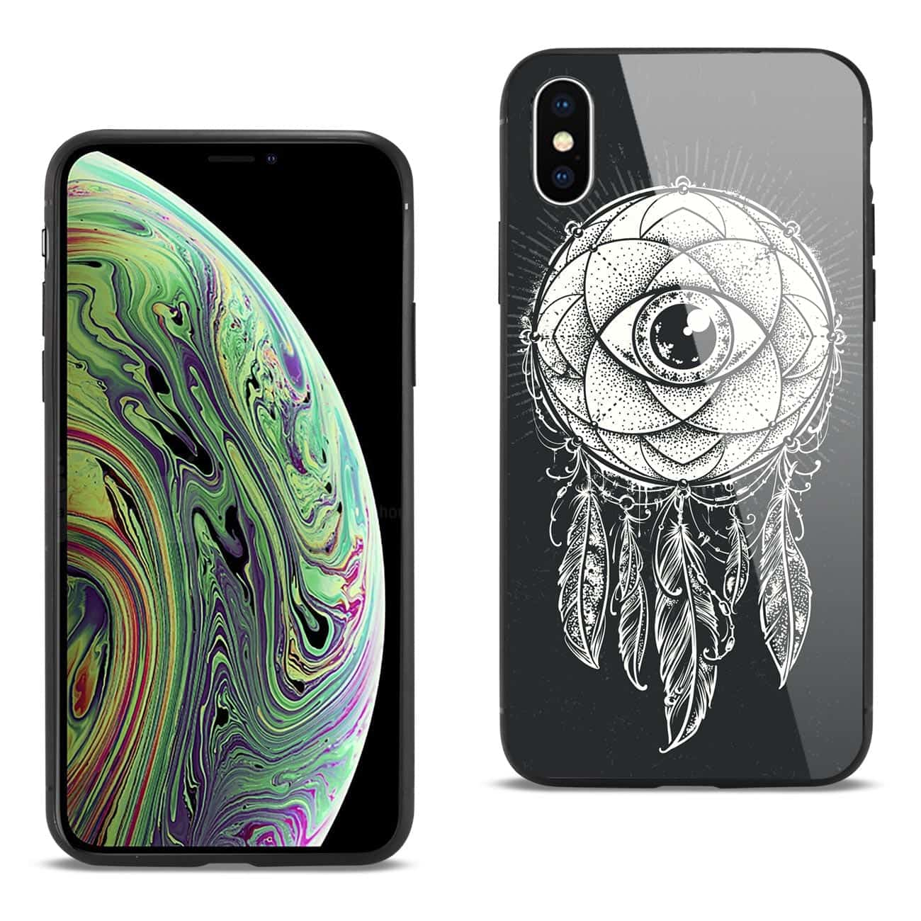 iPhone XS MAX Hard Glass Design TPU Case