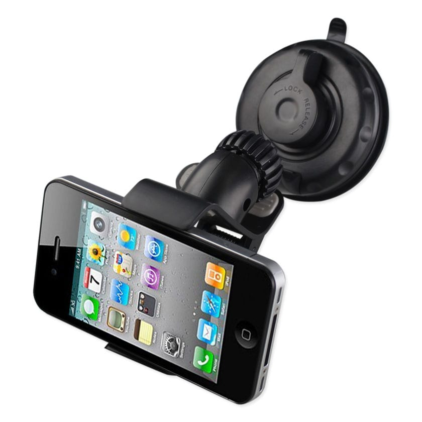 360 UNIVERSAL SUCTION GLASS WINDOW PHONE HOLDER IN BLACK