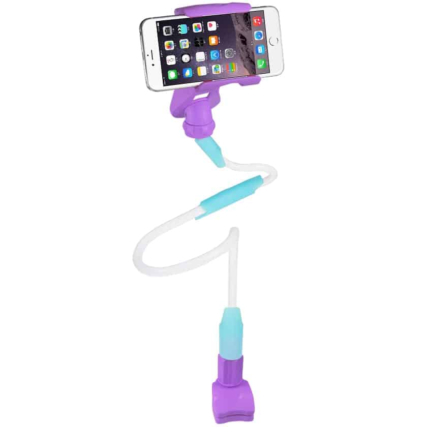 UNIVERSAL LONG FLEXIBLE ARMS PHONE HOLDER IN PURPLE