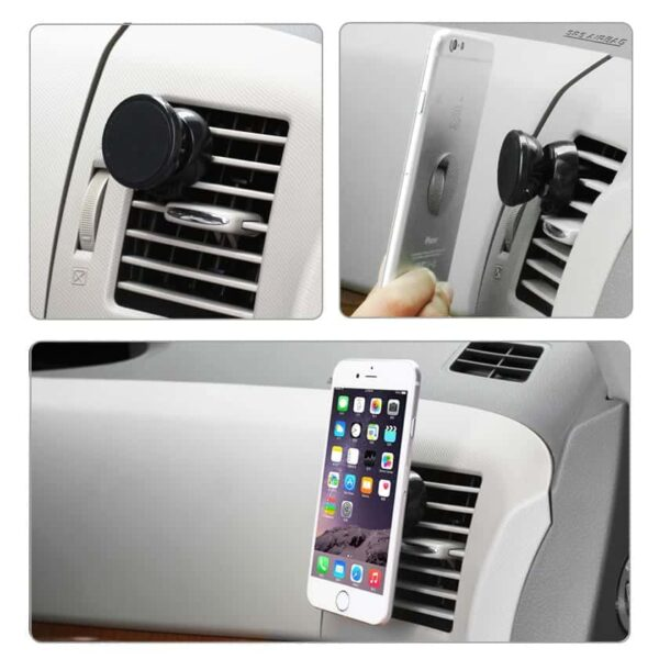 UNIVERSAL AIR VENT MAGNETIC CAR MOUNT PHONE HOLDER IN BLACK